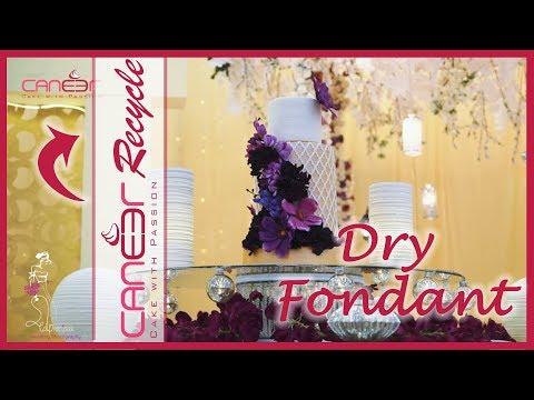 How to fix dry fondant  كيفية اصلاح الفوندانت الناشف