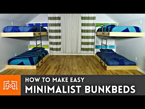 Easy Double Bunk Beds // Woodworking How To