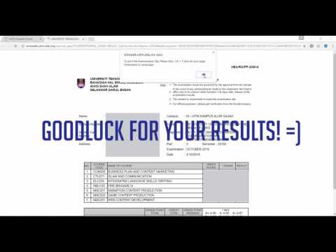 How to Check Your Current Semester Exam Results on i-Learn (Student Portal UiTM)