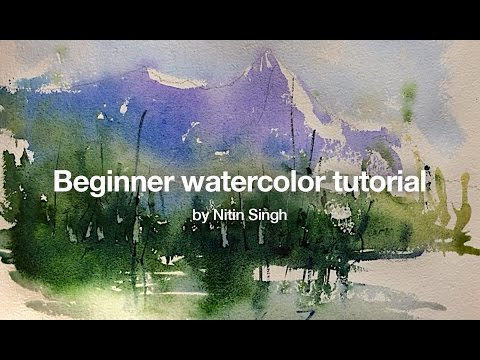 How to paint a simple landscape in watercolor