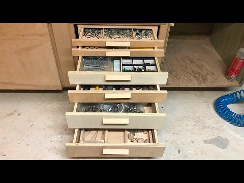 A bank of drawers for the shop
