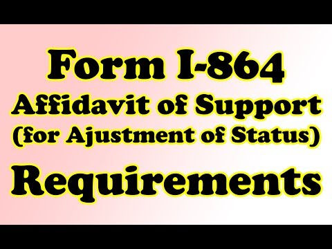 AOS: Form I-864 Affidavit of Suport Cover Letter! List of Requirements! (For Green Card)