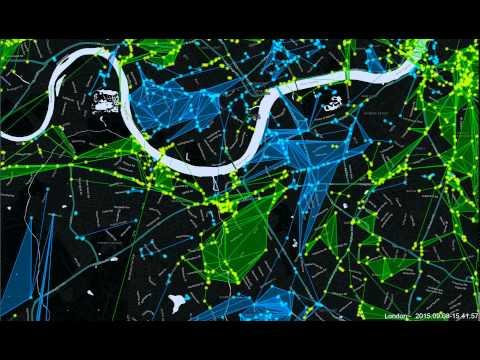 Ingress London 24hr time lapse   08 09 2015