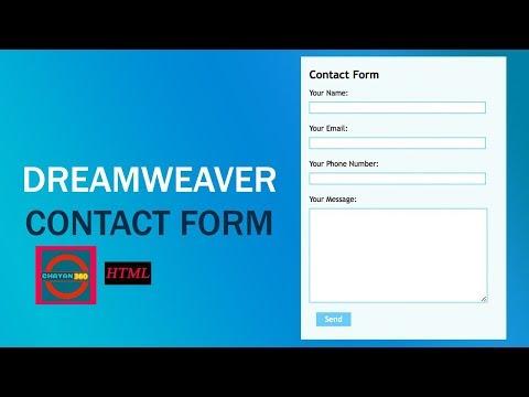 Create Contact Form : Dreamweaver CS6 Tutorial  by chayan360