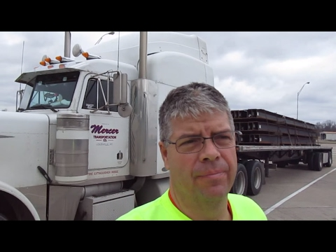 #51 Loading Big Steel Beams The Life of an Owner Operator Flatbed Truck Driver Vlog
