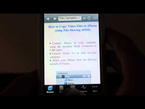 Play avi and flv Files on an iPhone