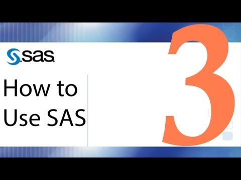 How to Use SAS - Lesson 3 - Importing External Data