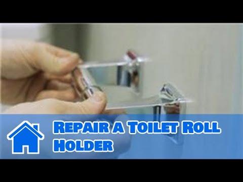 Toilet Repair : How to Repair a Toilet Roll Holder