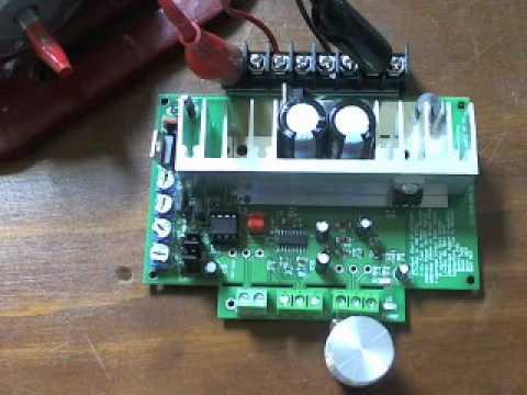 Test video for 12v-48v dc motor speed controller 25A or 50A