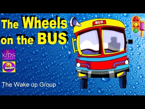 THE WHEELS ON THE BUS - with Lyrics - nursery rhymes