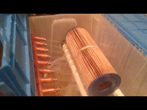 DIY Hot tub filter cleaner