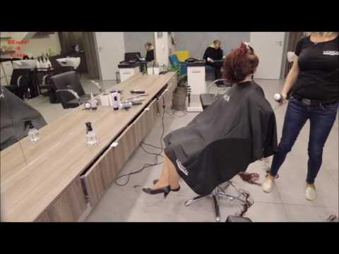 2017-13 Tereza preview - long red hair cut to short bob
