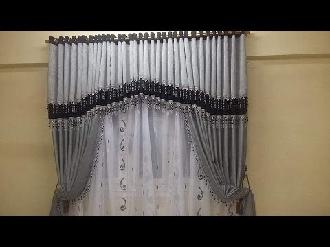 how to make swags and tails curtains (triangle swags part 1)