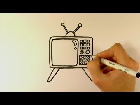 How to Draw a Cartoon Retro Television