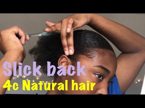 How to : Slick 4c Natural Hair back (short -medium length)