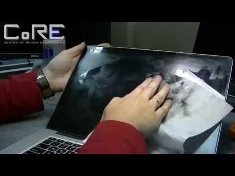 Как удалить царапины с экрана Macbook PRO A1398 | Retina display scratch fix