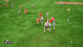 AFL Evolution 2 - Geelong Cats vs Gold Coast Suns - PS4 Gameplay