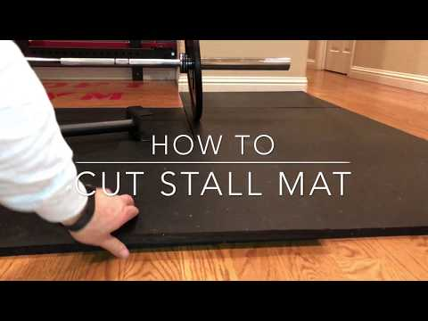 How to Cut Stall Mat