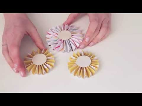 How to make a paper rosette by Magda Mizera