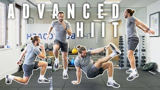 20 Minute Advanced Home Workout | Full Body Fat Burner | The Body Coach