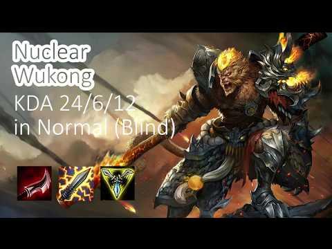 LoL Nuclear Wukong Top Season 7 24/6/12