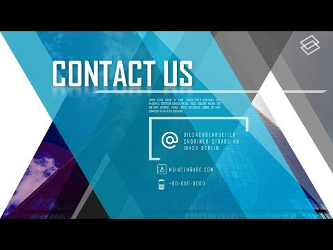 How To Create Most Beautiful Contact Us Business Presentation in Microsoft Office 365 PowerPoint PPT