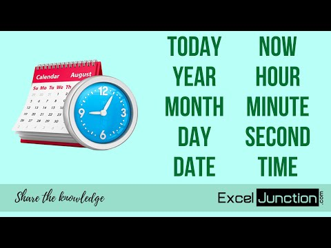 10 Functions for Working with DATE and TIME in Excel | ExcelJunction.com