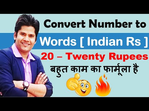 How to Convert Number into words in excel