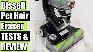 Bissell Pet Hair Eraser 1650A Upright Vacuum REVIEW & TESTS