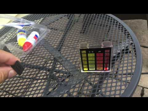 How to check pool Chlorine and pH Level for Intex EasySet Pool