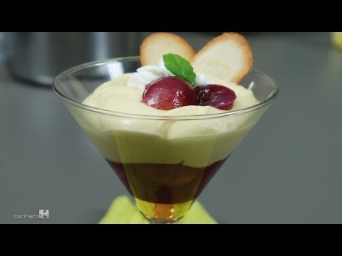 Zabaglione Chantilly with black grapes
