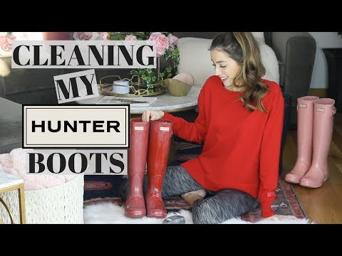How To Clean Hunter Boots + Remove the Cloudy Film!
