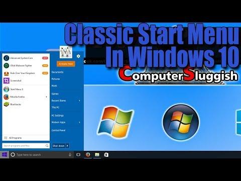 How To Bring Back Classic Start Menu In Windows 10 Tutorial