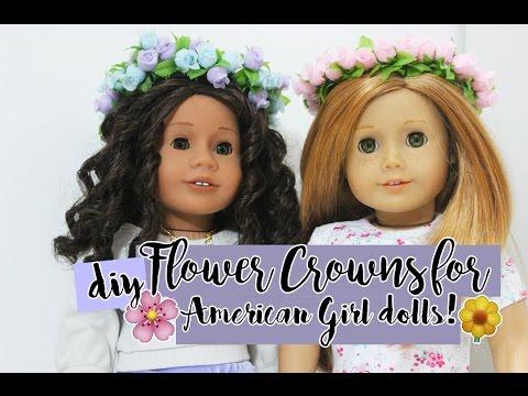 DIY AMERICAN GIRL DOLL FLOWER CROWN! ~ Beatriz Moitas