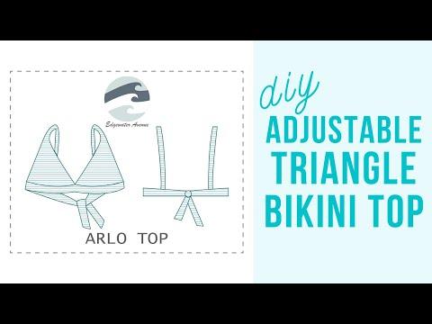 DIY Triangle Bikini Top (Arlo Top) || Katie Fredrickson