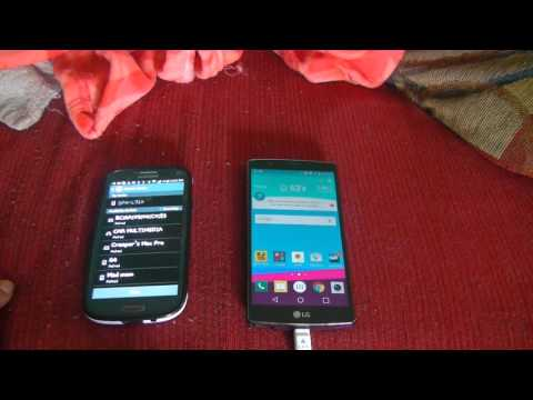 Transfering contacts from  Samsung S3 to LG G4   via bluetooth Tutorial