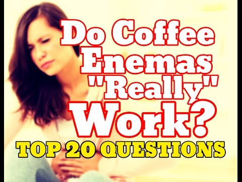Do Coffee Enemas Work? Top 20 Enema Questions - Side Effects, Recipe, At Home Results
