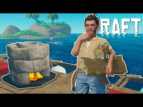 BUILDING A COLLECTION NET RAFT! - Raft Multiplayer Gameplay - Survival Raft Building Game