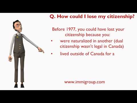 How could I lose my citizenship?