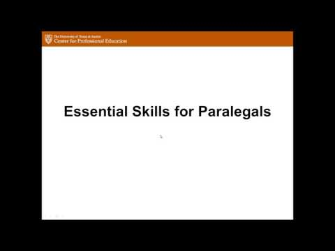 University of Texas at Austin Paralegal Certificate Program Information Session - May 2016