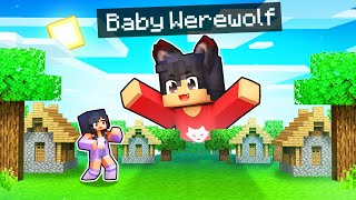 We're TINY with a Baby WEREWOLF In Minecraft!