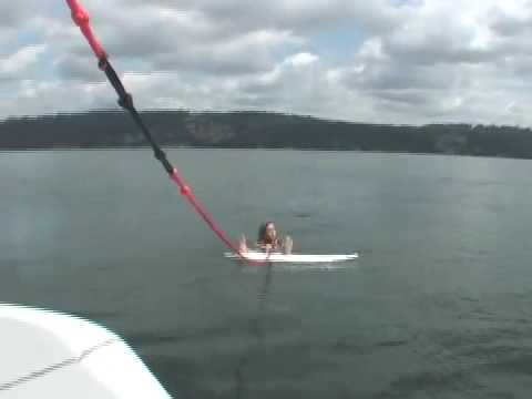 WAKESURF with INLAND SURFER How to get up