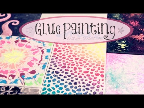 DIY Glue Painting - Water Marble, Tie Dye, & More - How To | SoCraftastic