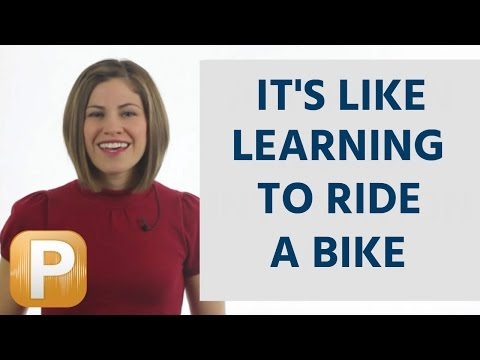 English Pronunciation - it's like learning to ride a bike