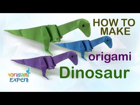 How to Make Origami Dinosaur