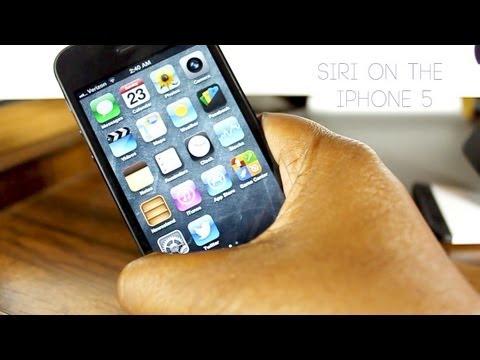Siri on the iPhone 5 (iOS6)