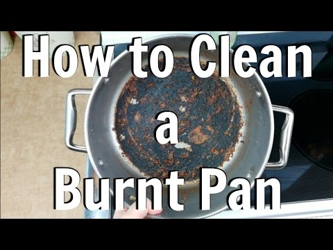 How to Clean a Burnt Pan or Pot