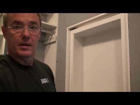 Hidden bookcase door