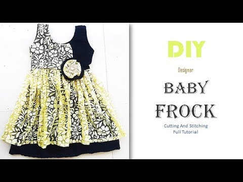 DIY Designer Double Layer Baby Frock Full Tutorial
