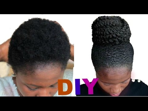 How To Style Short Natural Hair 4C ♡ Easy Diy